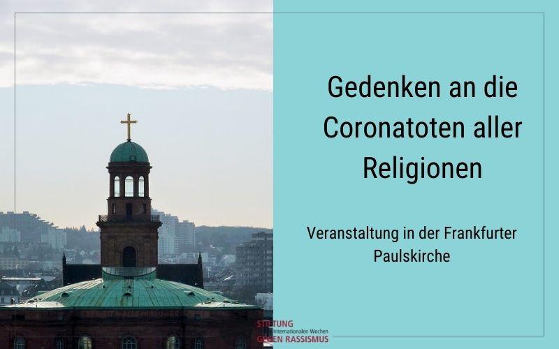 Gedenken an die Coronatoten aller Religionen